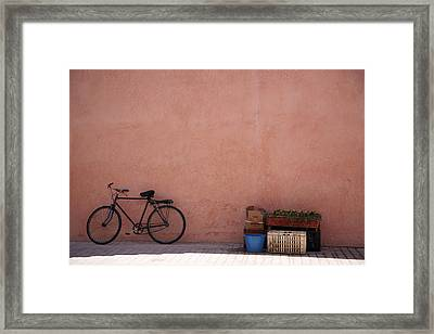 Bicycle Marrakech  Framed Print by Pauline Cutler