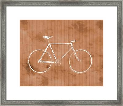 Bicycle On Tile Framed Print by Dan Sproul