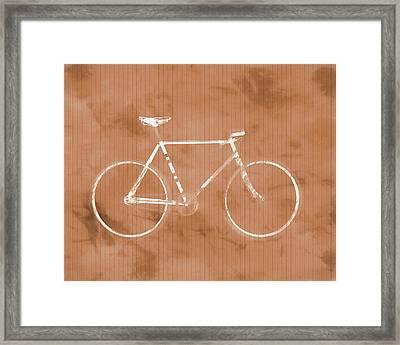 Bicycle On Tile Framed Print