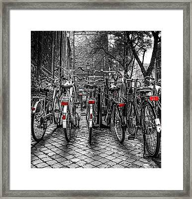 Bicycle Park Framed Print
