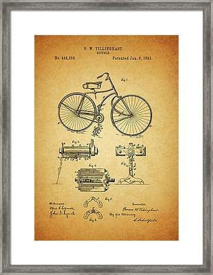 Bicycle Patent Framed Print