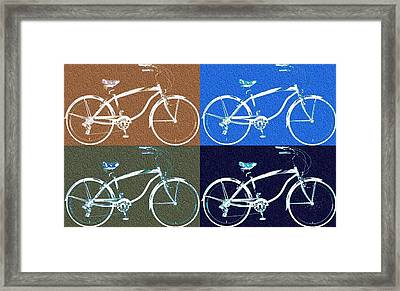 Bicycle Pop Art Poster Framed Print