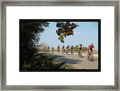 Bicycle Race Framed Print by Arik Baltinester