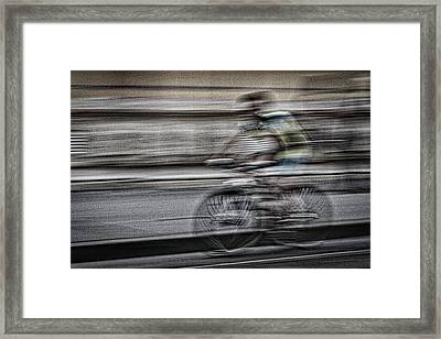 Bicycle Rider Abstract Framed Print