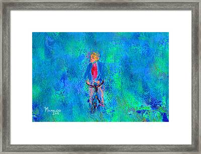 Bicycle Rider Framed Print