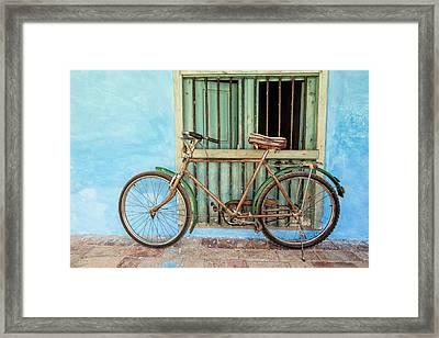 Bicycle, Trinidad Framed Print by Brenda Tharp