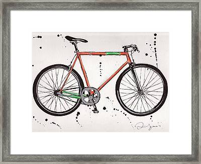 Bicyclebicyclebicycle Framed Print by Emily Jones