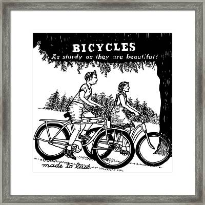 Bicycles - As Sturdy As They Are Beautiful Framed Print by Karl Addison