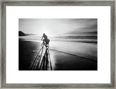 Bicycles Are For The Summer Framed Print