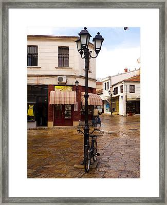 Bicycles At The Bazaar Framed Print by Rae Tucker