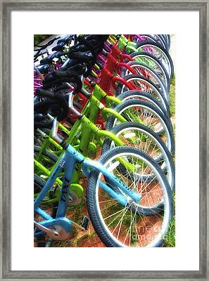 Bicycles On Florida County Road 30-a Framed Print