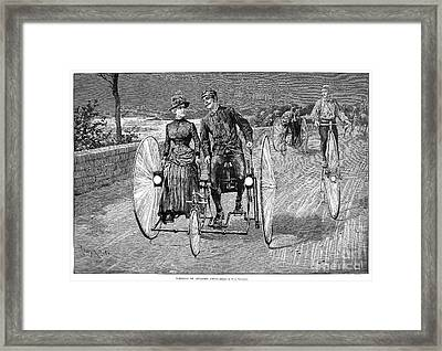 Bicycling, 1886 Framed Print by Granger