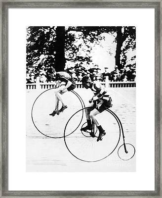 Bicycling Race, C1890 Framed Print by Granger