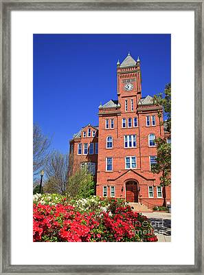 Biddle Hall In The Spring Framed Print