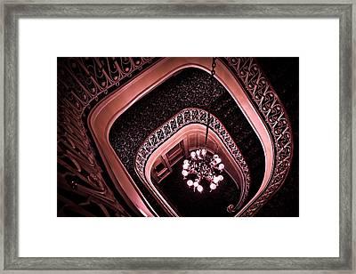 Biddle Mansion Staircase - Pink Framed Print