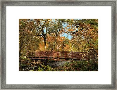 Framed Print featuring the photograph Bidwell Park Bridge In Chico by James Eddy