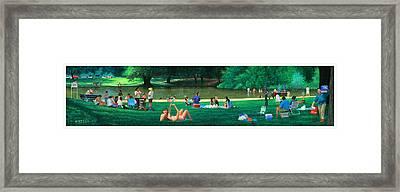Bidwell Park Panorama Framed Print