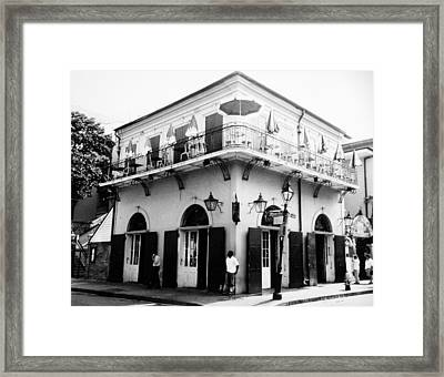 Bienville And Bourbon Streets  Framed Print