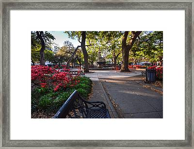 Bienville Square At Easter Framed Print by Michael Thomas
