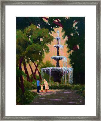 Bienville Square Fountain Framed Print