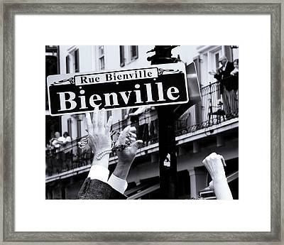 Bienville Street In New Orleans Framed Print by Ray Devlin