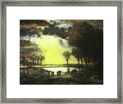 Bierstadt Impression Framed Print by Nils Bifano