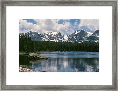 Bierstadt Lake Hallett And Otis Peaks Rocky  Mountain National Park Framed Print