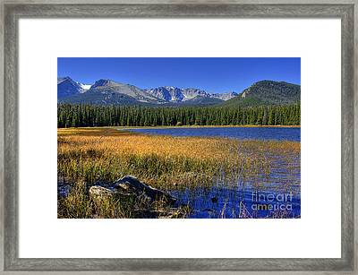 Bierstadt Lake Shoreline 2 Framed Print