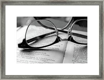Bifocals And Hamlet Framed Print