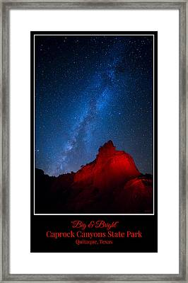 Big And Bright - Caprock Canyons Framed Print by Stephen Stookey