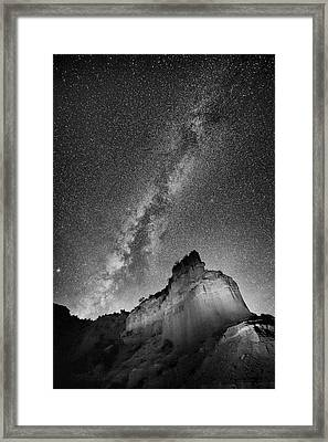 Framed Print featuring the photograph Big And Bright In Black And White by Stephen Stookey