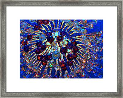 Big Apple Chandelier Framed Print by Angela Annas