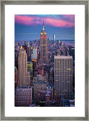 Big Apple Twilight Framed Print