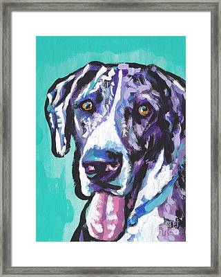 Big Baby Dane Framed Print by Lea S