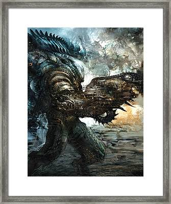 Big Badass Daddy Framed Print by Alex Ruiz