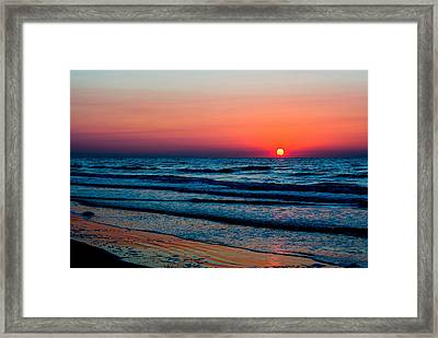 Big Ball Sunrise Framed Print by Robert Brown