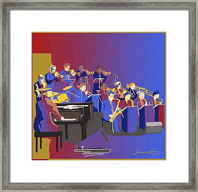 Big Band Framed Print