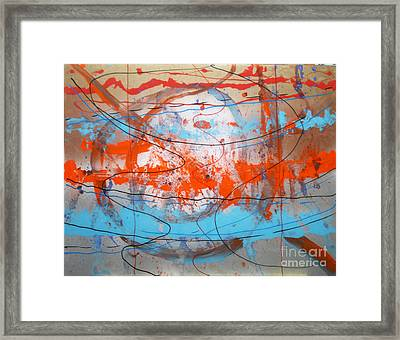 Framed Print featuring the painting Big Bang by Mordecai Colodner