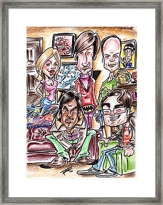 Big Bang Theory Framed Print by Big Mike Roate