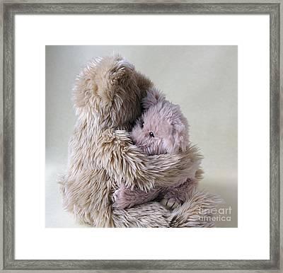 Big Bear Holds Little Bear Framed Print by Ruby Hummersmith