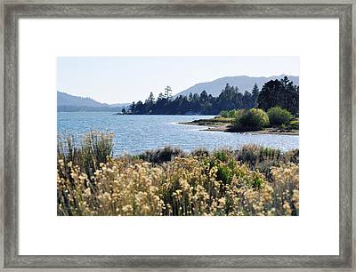 Big Bear Lake Shoreline Framed Print by Kyle Hanson