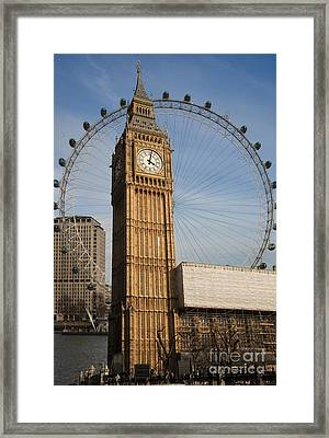 Big Ben And Eye Framed Print by Donald Davis