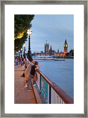 Big Ben And Houses Of Parliament Viewed Framed Print