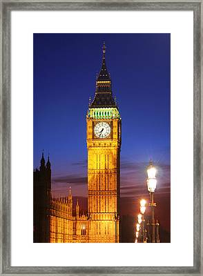 Big Ben At Night Framed Print by Dan Breckwoldt