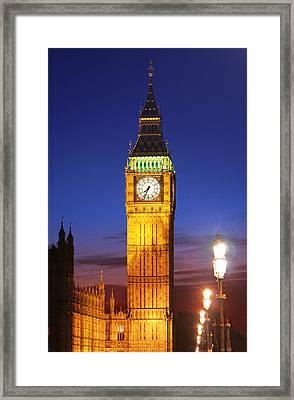 Big Ben At Night Framed Print by Dan Breckwoldt