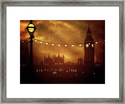 Framed Print featuring the digital art Big Ben At Night by Fine Art By Andrew David