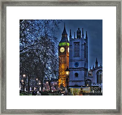 Big Ben At Twilight Framed Print
