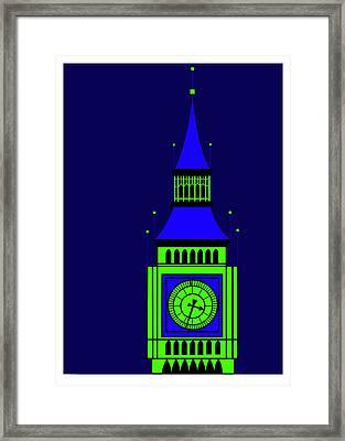 Big Ben By Night Framed Print by Asbjorn Lonvig