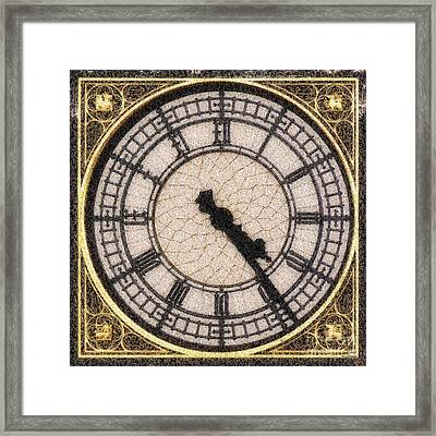 Framed Print featuring the photograph Big Ben Clock Color By Numbers 20161115 by Wingsdomain Art and Photography