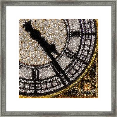 Framed Print featuring the photograph Big Ben Clock Color By Numbers 20161115v2 by Wingsdomain Art and Photography